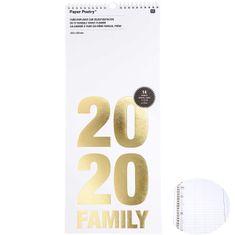 Kraftika Nástěnný rodiný kalendář na rok 2020, bílozlatý