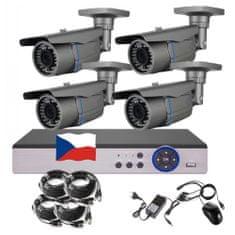 Eonboom 4CH 5MPx AHD kamerový set CCTV VR4B - DVR s LAN a 4x venkovní bullet kamera
