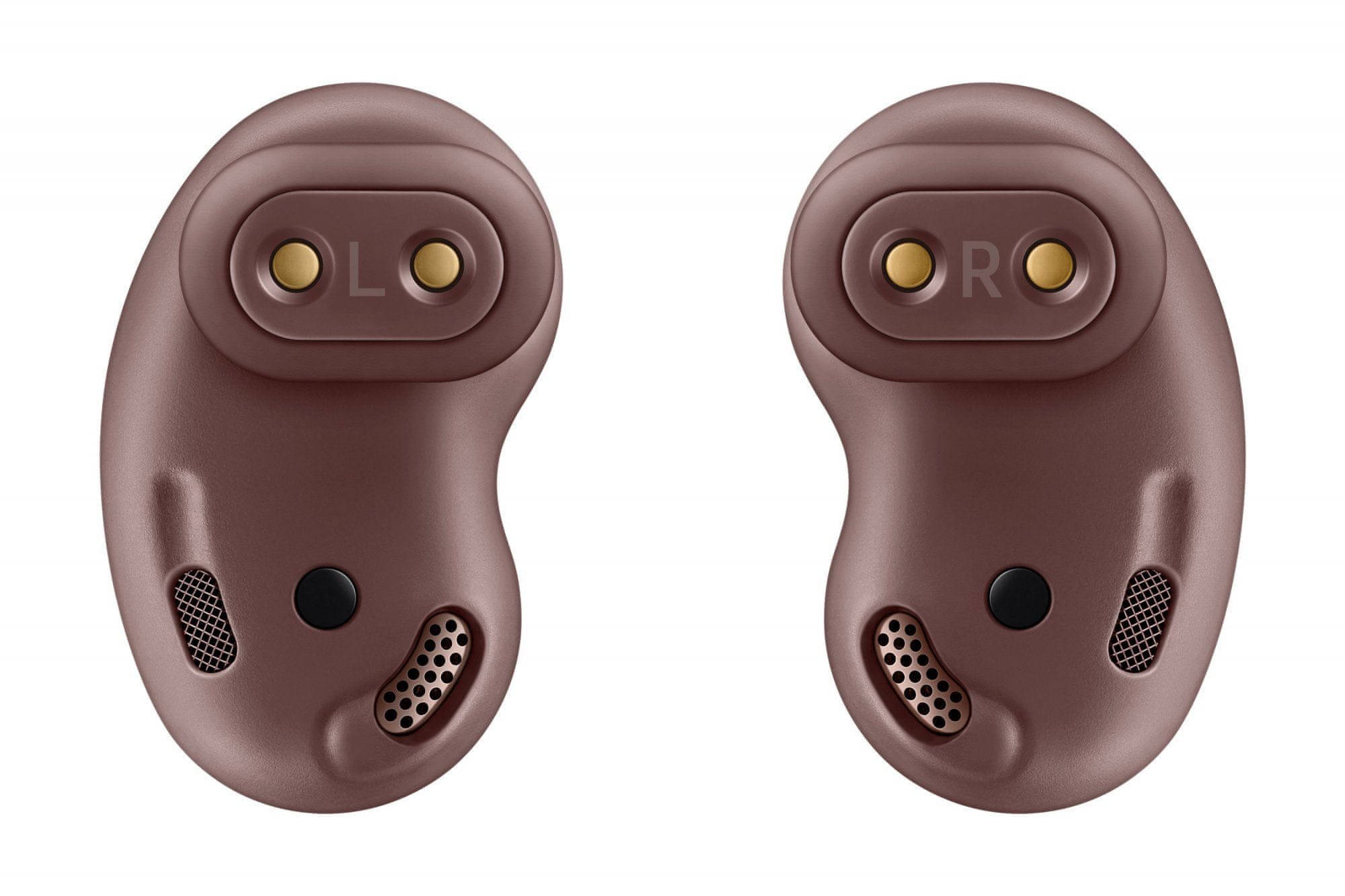 bezdrátová sluchátka Samsung Galaxy Buds Live hands-free telefonní hovory vestavěný mikrofon srozumitelný přenos hlasu