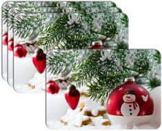 RoomDecor.eu Vianočné prestieranie-065, 4 Ks