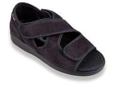 OrtoMed Ortopedické sandále na dva suché zipsy, čierna, 38