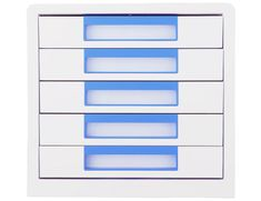 Deli stationery Box zásuvkový Rio 5 zásuvek modrý