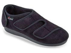 OrtoMed Ortopedické topánky s pätou na suchý zips, čierna, 37