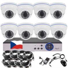 Eonboom 8CH 5MPx STARVIS kamerový set CCTV VR8DW - DVR s LAN a 8x venkovní vari kamera bílá
