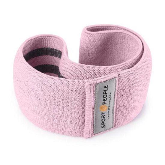 Sport2People Posilňovací pás - látkový S Barva: Růžová