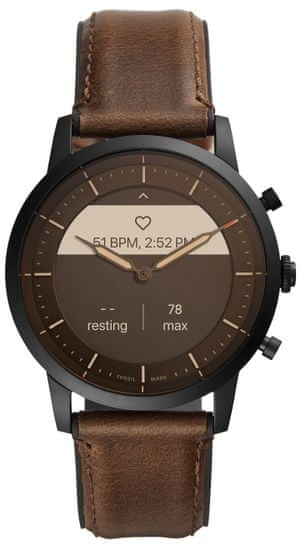 Fossil FTW7008 Hybrid Watch M Dark Brown Leather - rozbaleno