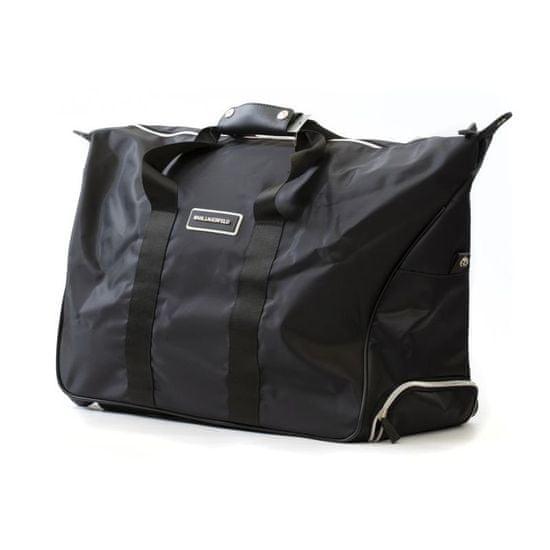 Karl Lagerfeld Lagerfeld cestovní taška s kolečky černá