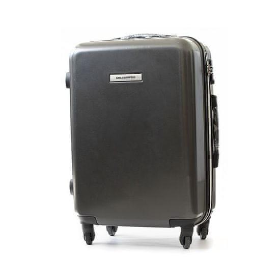 Karl Lagerfeld Lagerfeld pevný skořepinový kufr 76 cm černá