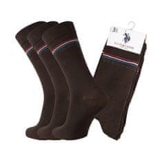 U.S. Polo Assn. POLO ASSN. ponožky 3 páry 39-42 hnědá