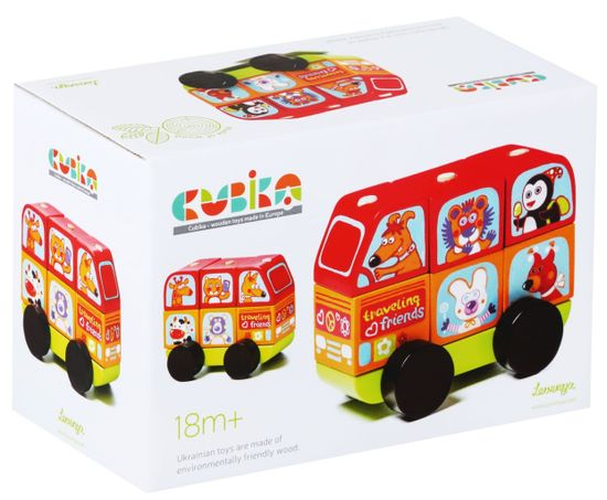 CUBIKA 13197 Minibus šťastná zvířátka