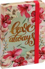 nb grafo Notes A6 črte trde platnice, 96 listov, z elastiko, 0464.01, Dream Love always