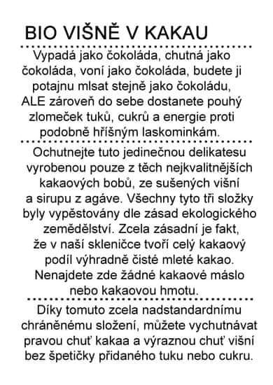 Dr. Hlaváč BIO Višně v Kakau 275 g čokoláda BEZ přídavku CUKRU