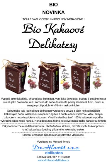 Dr. Hlaváč BIO Kokos v Kakau 275 g čokoláda BEZ přídavku CUKRU