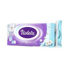 Violeta Pure & Strong toaletni papir bombažni, 3-slojni, 10/1