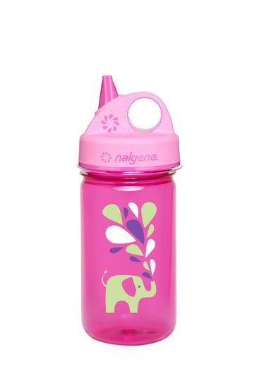 Nalgene Grip-N-Gulp boca, 350 ml, roza, slon