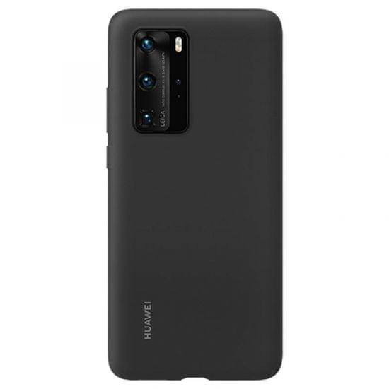 Huawei original ovitek za Huawei P40 Pro, silikonski, črn