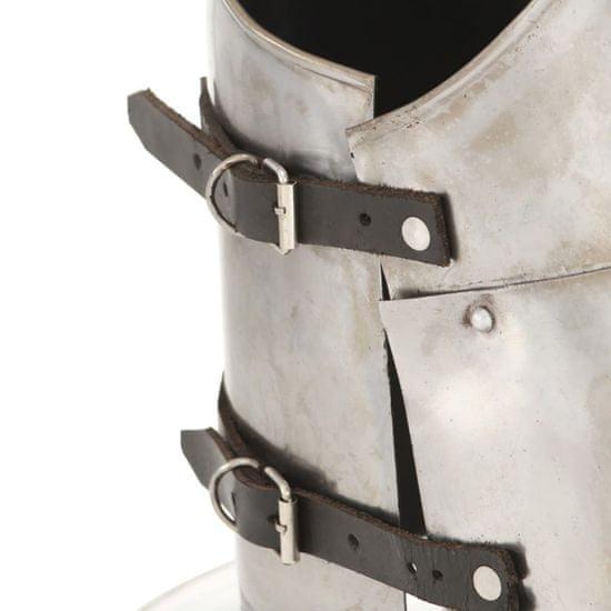 shumee Stredoveký rytiersky pancierový kyrys pre LARP replika strieborná oceľová