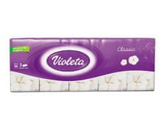Violeta robčki Classic, 3-slojni, 10 x 10/1
