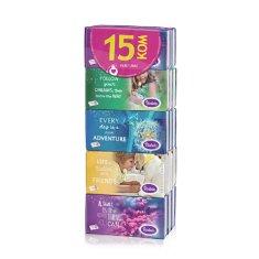 Violeta robčki Color, 3-slojni, 15 x 10/1