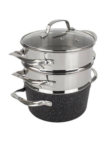 Eaziglide Eaziglide Neverstick2 - set nádobí pro vaření v páře (1039)