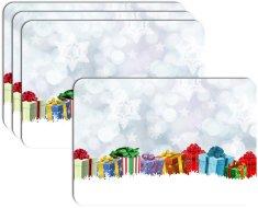 RoomDecor.eu Vánoční prostírání-078, 4 Ks