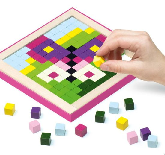 CUBIKA 14880 Pixel II kouzla - dřevěná mozaika 250 kostiček