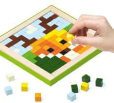 CUBIKA živali Pixel III 14897, leseni mozaik, 250 kock