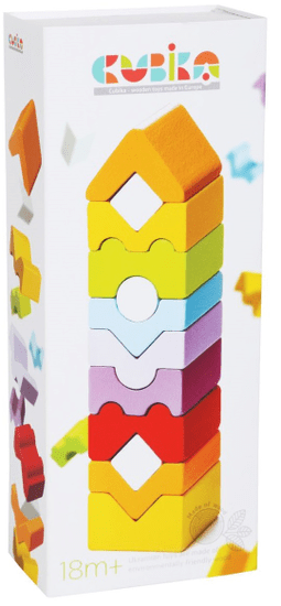 CUBIKA 14996 Věž XI dřevěná skládačka 12 dílů