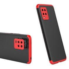 GKK 360 Full Body plastika ovitek za Xiaomi Mi 10 Lite, črna/rdeča