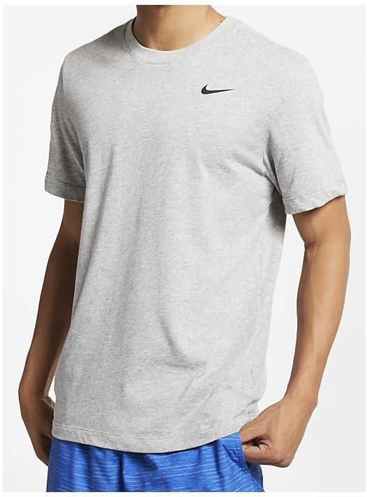 Nike pánské tričko Dry Tee DFC Crew Solid XXL, šedá