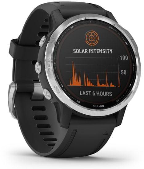 Garmin fénix 6S Solar sportski sat, crno-srebrni
