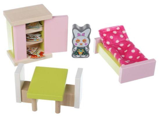 CUBIKA 12640 Pokoj - dřevěný nábytek pro panenky