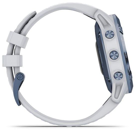 Garmin fenix 6 Pro Solar, Mineral Blue, Whitestone Band - rozbaleno
