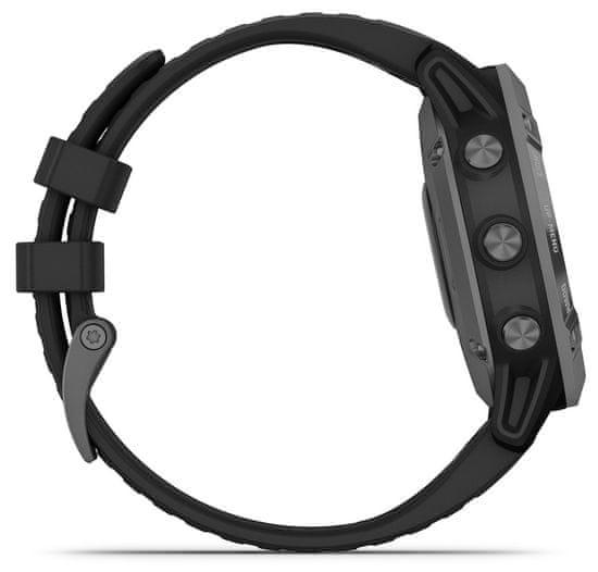 Garmin fenix 6 Pro Solar, Slate Gray, Black Band