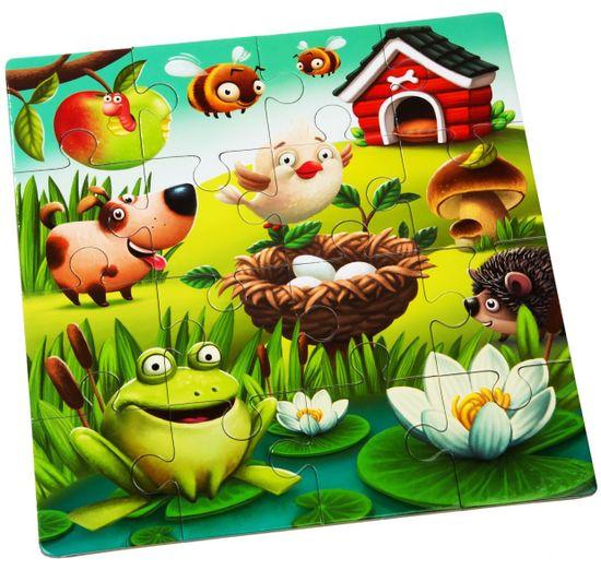 Puzzlika 12985 Oblíbená zvířátka 3v1 3 obrázky 50 dílků