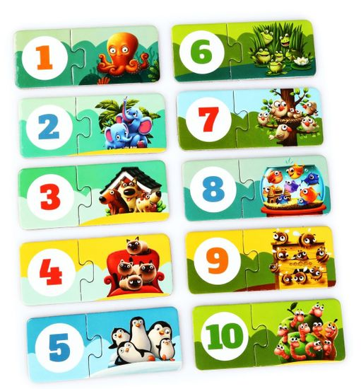Puzzlika 13005 Přátelé - naučné puzzle 20 dílků
