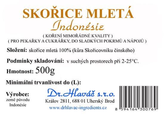 Dr. Hlaváč Skořice mletá z Indonésie 500 g