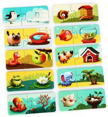 Puzzlika 13074 Házam - fejlesztő puzzle, 20 darabos