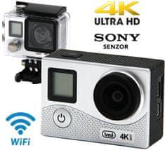 Trevi GO 2500-4K aktivna športna kamera, 4K-UHD,WiFi, Sony senzor, srebrna