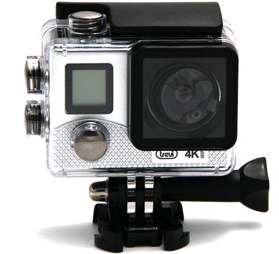 Trevi GO 2500-4K aktivna športna kamera, 4K-UHD,WiFi, Sony senzor, srebrna - Odprta embalaža