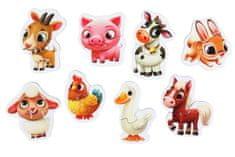 Puzzlika 14781 Domácí zvířátka naučné puzzle 8 zvířátek - 16 dílků