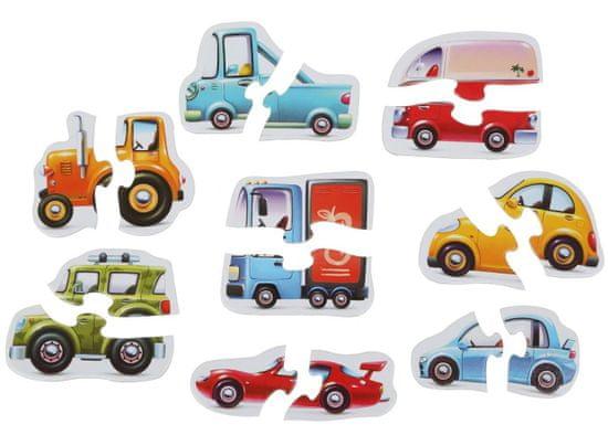 Puzzlika sestavljanka s prevoznimi sredstvi 15245 sestavljajo, 8 vozil, 16 kosov