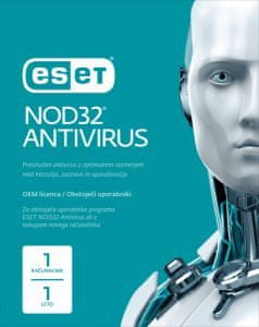 ESET protivirusna zaščita NOD32 Antivirus OEM, 1 leto