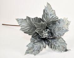 DUE ESSE cvet božične zvezde, srebrn, 60 cm