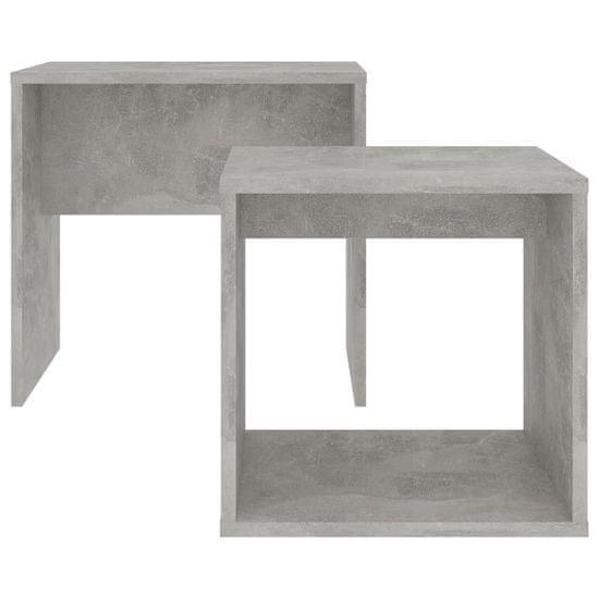 shumee betonszürke forgácslap dohányzóasztal szett 48 x 30 x 45 cm