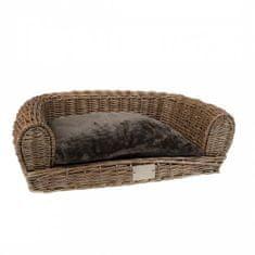 Duvo+ Provence Wicker Sofa & Cushion 64x43x19cm