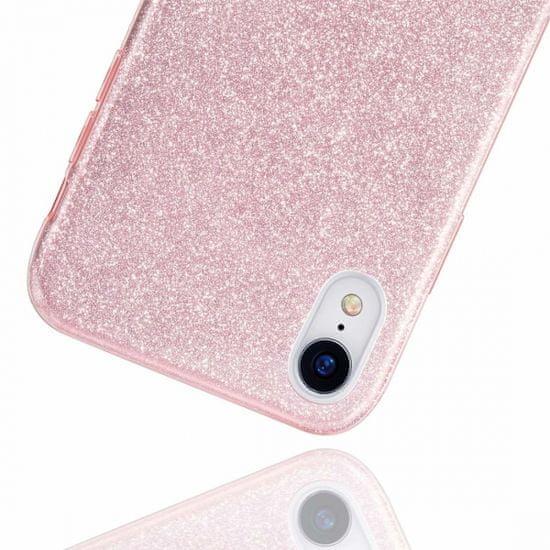 maska Bling za Huawei P40, silikonska, sa šljokicama, ružičasta
