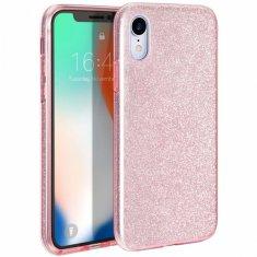 ovitek Bling za Huawei P40, silikonski, z bleščicami, roza