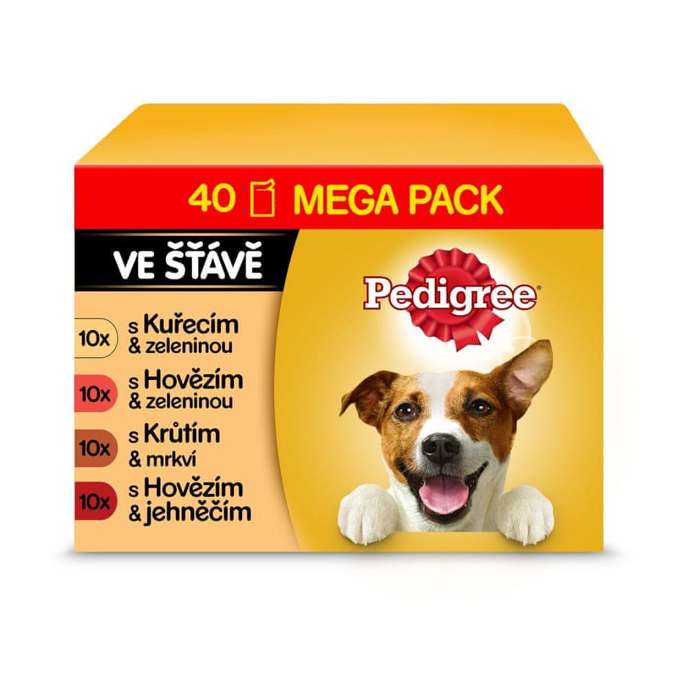 Pedigree kapsičky pro dospělé psy s hovězím ve šťávě 40x100 g