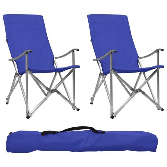 shumee 2 db kék összecsukható kempingszék
